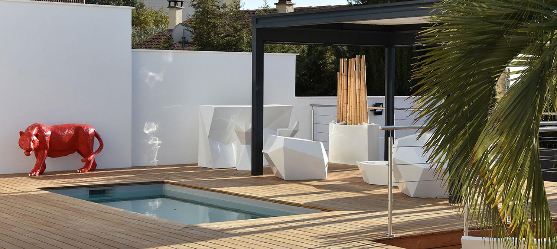 petite piscine avec terrasse bois