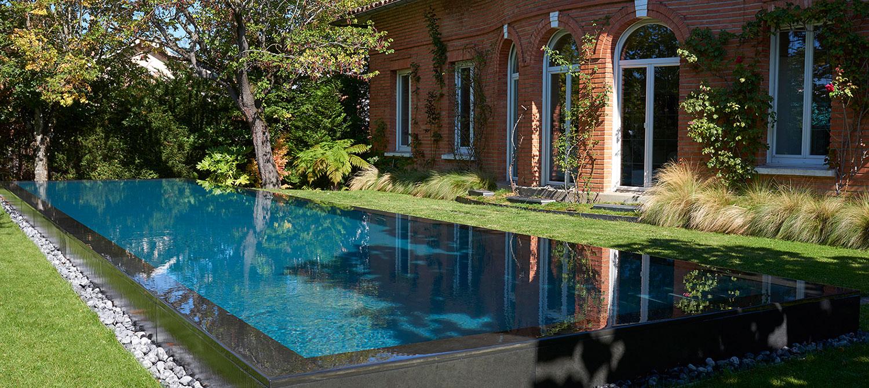 piscine à débordement miroir toulouse