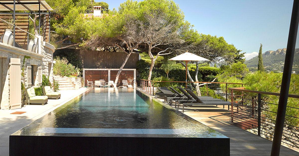 piscine sur terrasse sud de la france