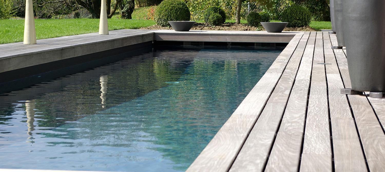 couloir de nage reflets noir