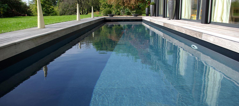piscine liner noir