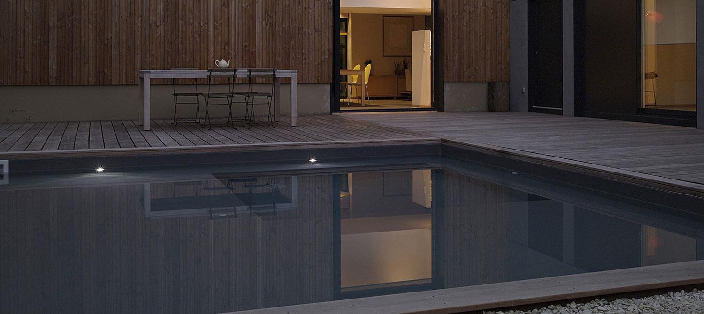 piscine carrée esprit bassin