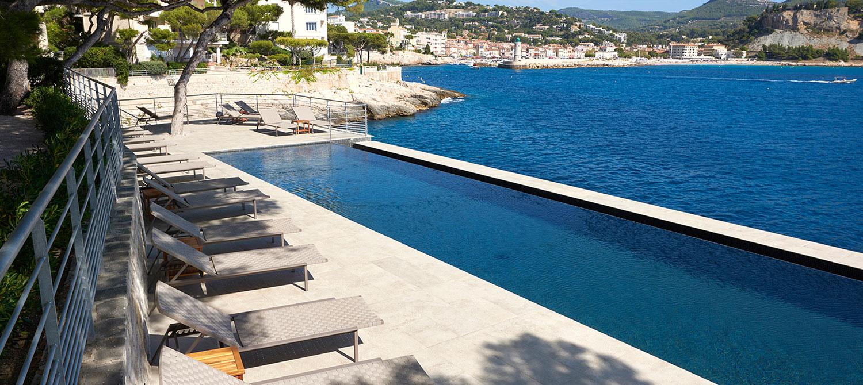 piscine d'hôtel à débordement Les Roches Blanches