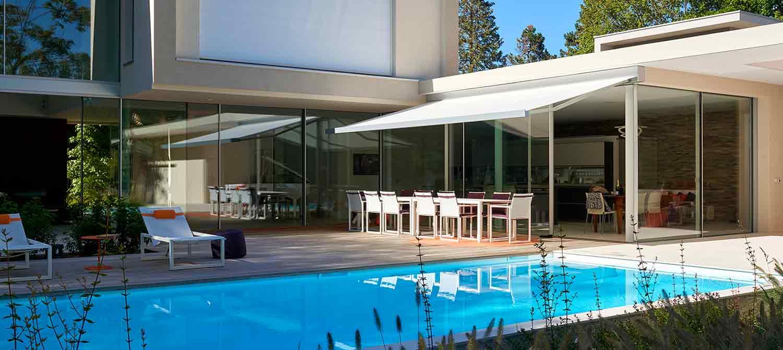 piscine familiale liner blanc