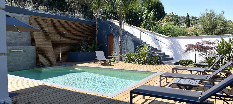 piscine en mosaïque 7 x 4 m