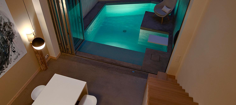 petite piscine forme personnalisée