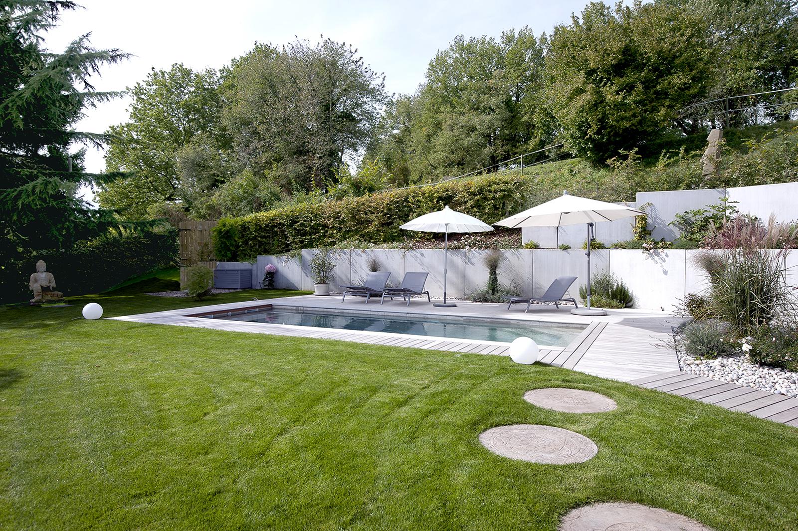 piscine avec jardin evian