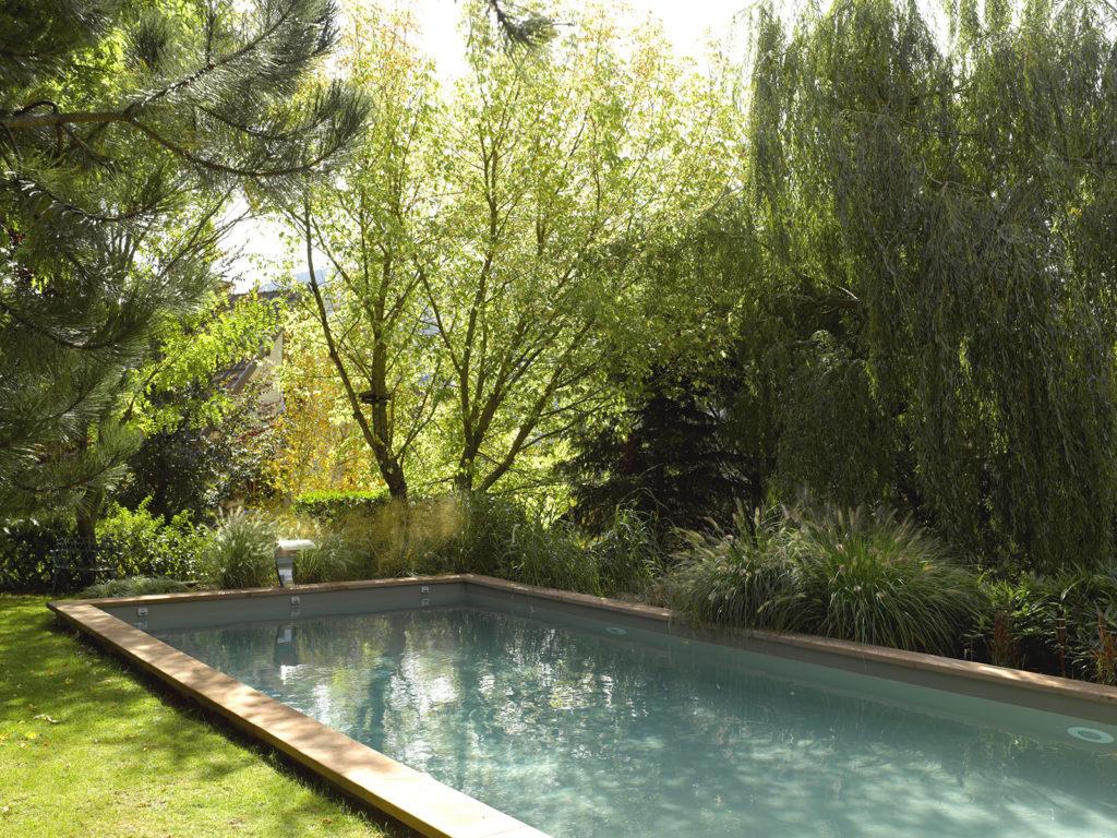 piscine jardin arboré
