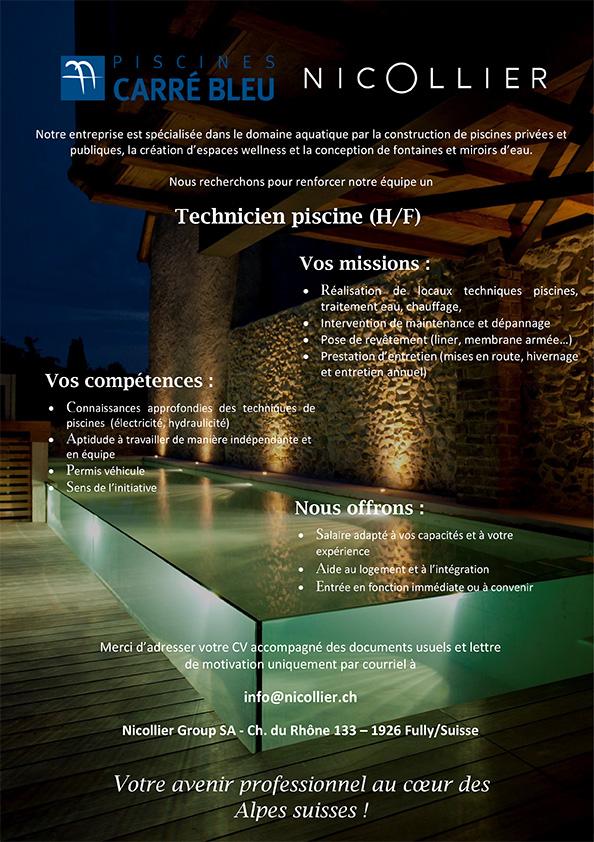 technicien piscine suisse